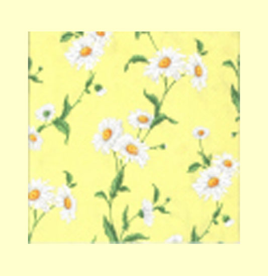 Yellow marguerite cocktail napkins