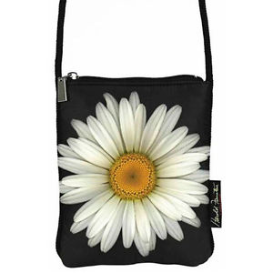 Harold Feinstein S High Resolution Image Of The Daisy Is On Both Sides This Little Polyester Bag Has An Extra Long Nylon Corded Shoulder Strap